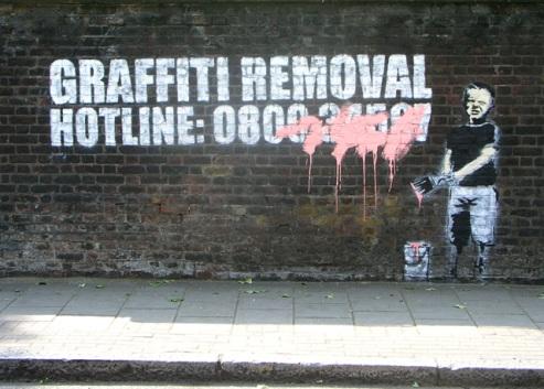 Графити на стена от Банкси