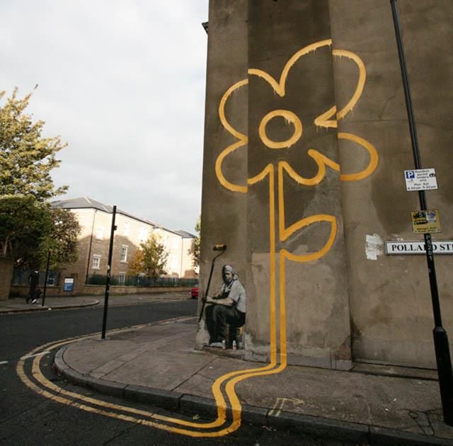 Изкуството на графитите от Банкси