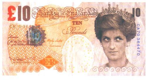 Банкнота на принцеса Даяна от Банкси