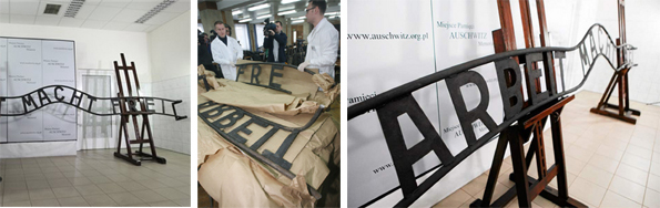 Оригиналната табела на Аушвиц вече се пази в музея