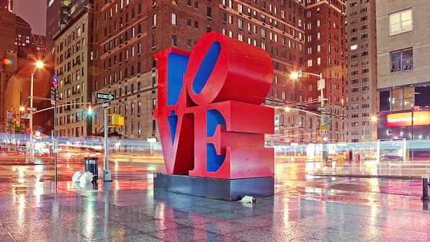 Легендарни табели по света - Обемни букви LOVE в Ню Йорк