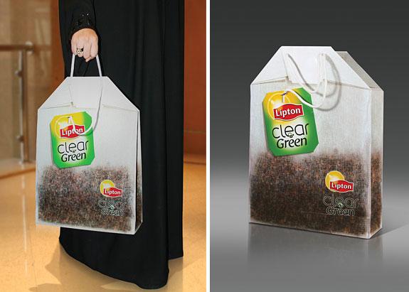 Дизай на рекламна торбичка Lipton