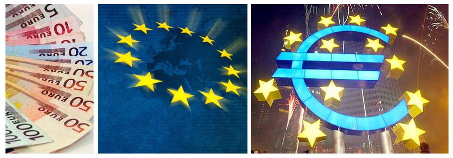 Евро символи и обемен знак