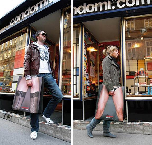 Дизай на рекламна торбичка Condomi