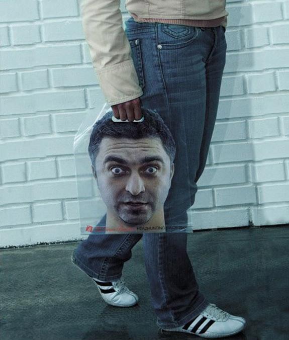 Дизай на рекламна торбичка Headhunt
