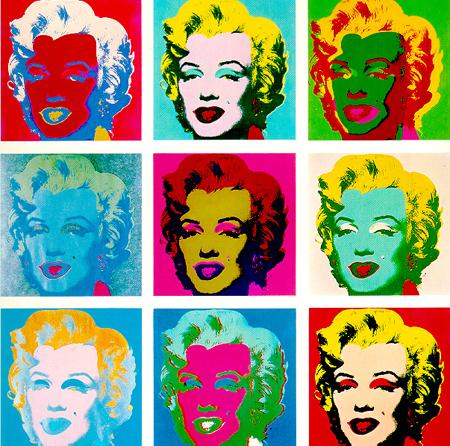 Анди Уорхол - рисунки на Мерилин Монро. Опит в изобразителното изкуство