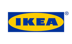 Лого на световноизвестна фирма с наименование IKEA