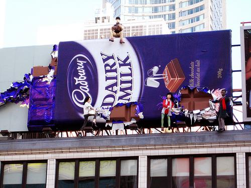 Дизайн на креативна билборд реклама - Cadburry