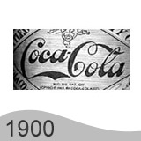 Еволюция на логото - дизайн на логото на Coca Cola от 1900 година