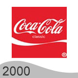 Еволюция на логото - дизайн на логото на Coca Cola от 2000 година