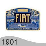 Еволюция на логото - проектиране на логото на Fiat от 1901 година
