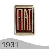 Еволюция на логото - проектиране на логото на Fiat от 1931 година