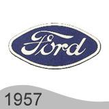 Еволюция на логото - проектиране на логото на Ford от 1957 година