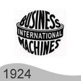 Еволюция на логото - дизайн на логото на IBM от 1924 година