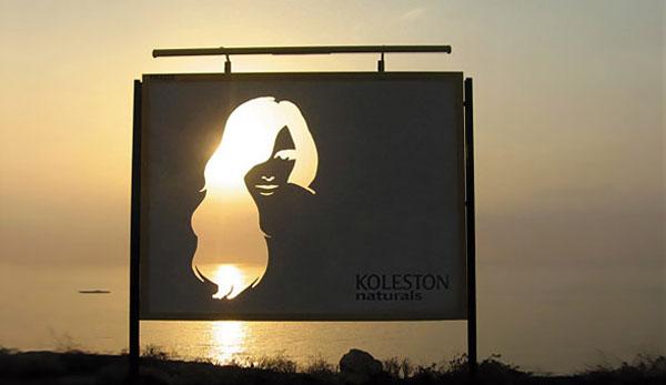 Дизайн на креативна билборд реклама - Koleston Naturals