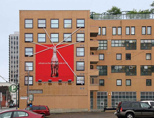 Дизайн на креативна билборд реклама - освежи се с Кока Кола