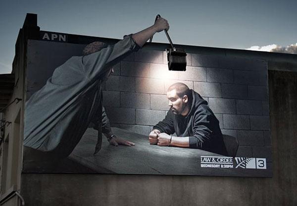 Дизайн на креативна билборд реклама - проект Закон и ред