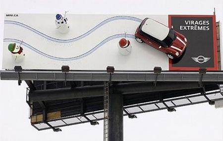 Дизайн на креативна билборд реклама - Проект Мини Купър