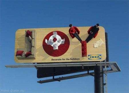 Дизайн на креативна билборд реклама - проект Икеа