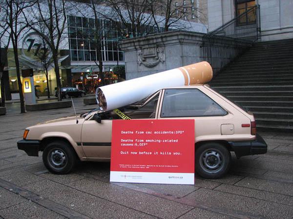 Интересни реклами - реклама против пушенето
