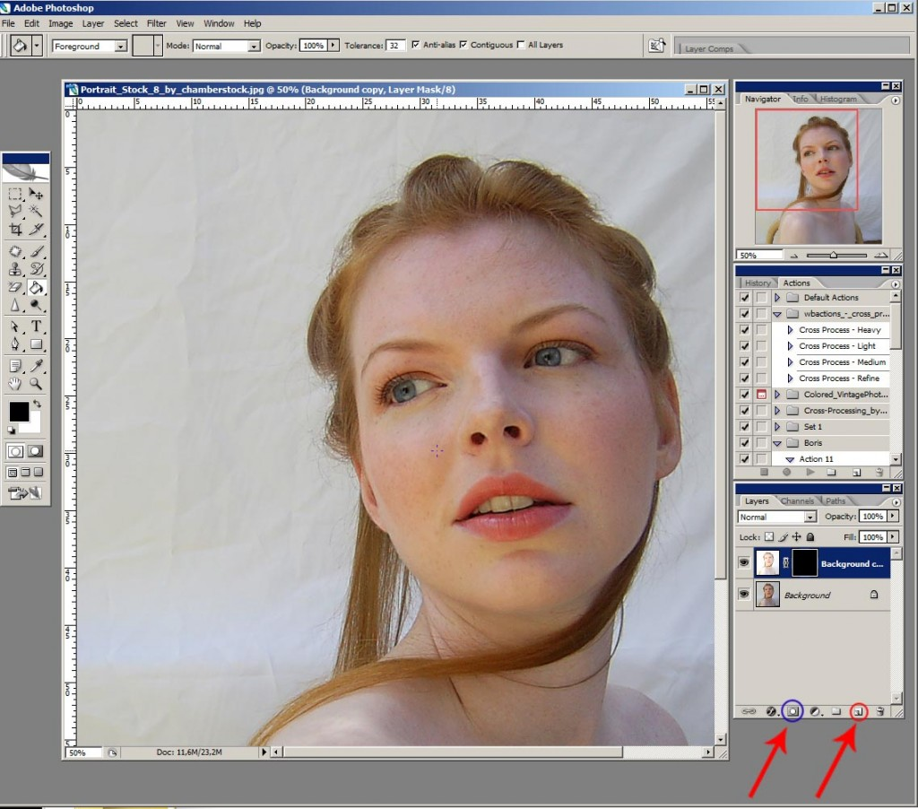 Photoshop урок: Дублиране на слой ни създаване на маска