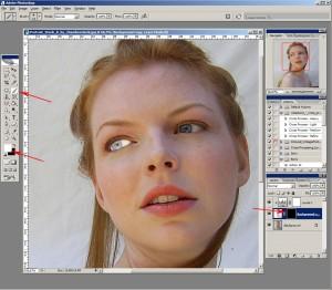 Photoshop урок: Използвайте Brush tool и изтрийте маската