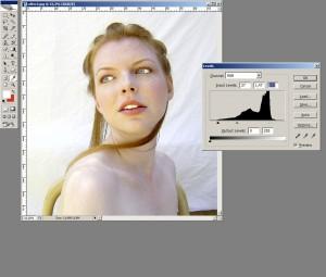 Photoshop урок: цялостно изсветляване на изображението с Levels tool