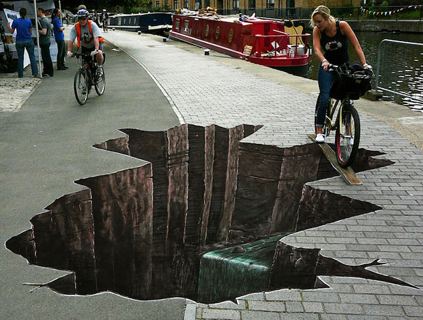 Улично изкуство. Рисунки по стени и пътища (10)