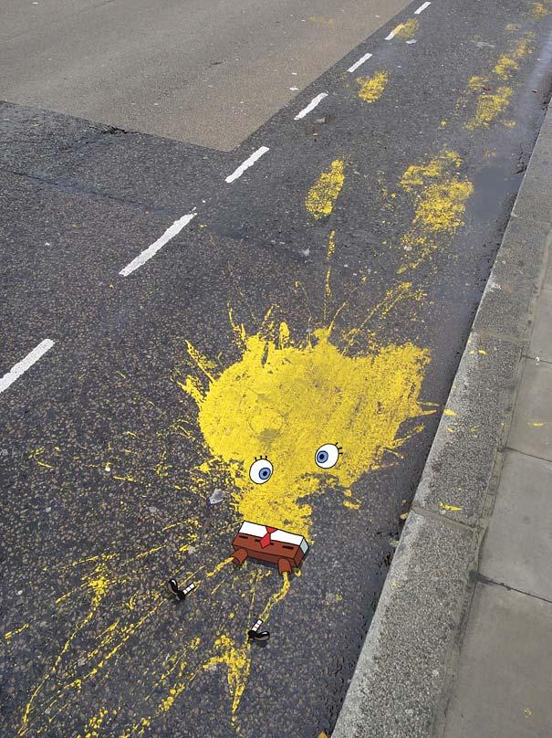 Улично изкуство. Рисунки по стени и пътища (17)