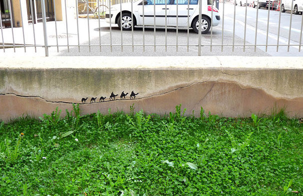 Улично изкуство. Рисунки по стени и пътища (6)