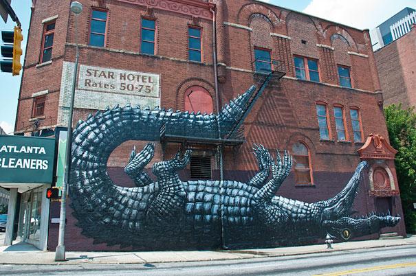 Улично изкуство. Рисунки по стени и пътища (8)