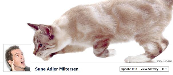 Дизайн на креативно кавър изображение за Facebook профил - Sune Adler Miltersen
