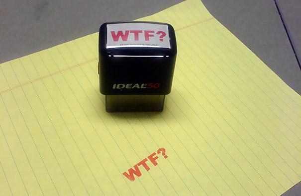 Забавен офис - WTF печат за служители