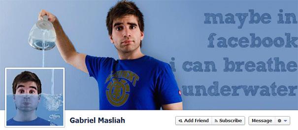 Дизайн на креативно кавър изображение за Facebook профил - Gabriel Masliah