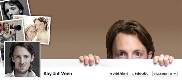 Дизайн на креативно кавър изображение за Facebook профил - Kay Int Veen