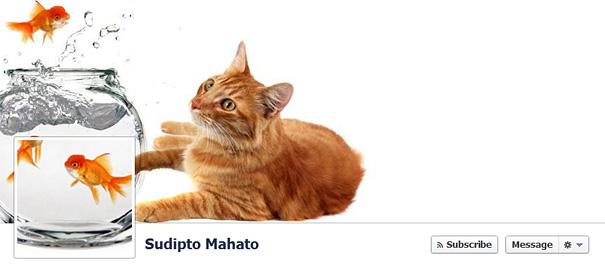Дизайн на креативно кавър изображение за Facebook профил - Sudipto Mahato