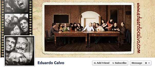Дизайн на креативно кавър изображение за Facebook профил - Eduardo Calvo