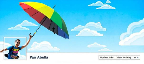 Дизайн на креативно кавър изображение за Facebook профил - Pao Abella