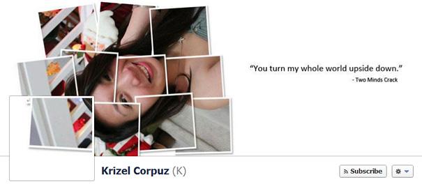 Дизайн на креативно кавър изображение за Facebook профил - Krizel Corpuz