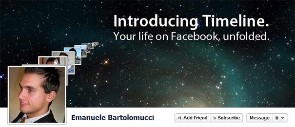 Дизайн на креативно кавър изображение за Facebook профил - Emanuele Bartolomucci