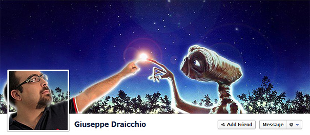 Дизайн на креативно кавър изображение за Facebook профил - Giuseppe Draicchio