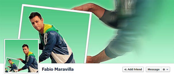 Дизайн на креативно кавър изображение за Facebook профил - Fabio Maravilla