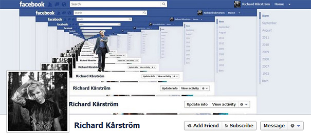 Дизайн на креативно кавър изображение за Facebook профил - Richard Karstrom