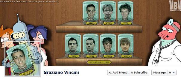 Дизайн на креативно кавър изображение за Facebook профил - Graziano Vincini