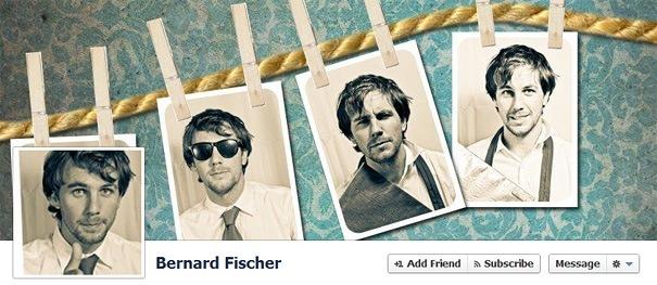 Дизайн на креативно кавър изображение за Facebook профил - Bernard Fischer