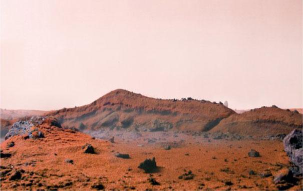 Диорама на Марс от червен пипер