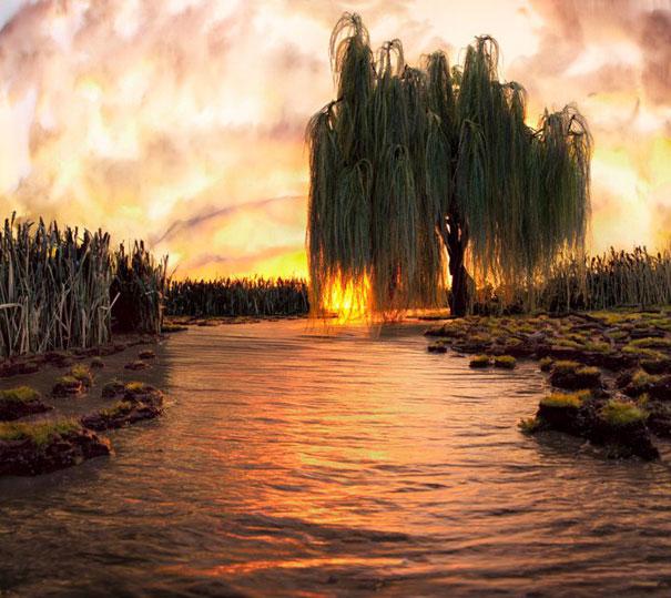 Макет на река Хоризон