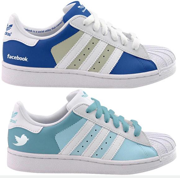 Facebook и Twitter модели на обувки от Adidas