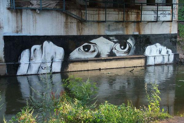 Известни графити на руския Банкси