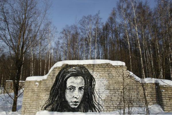 Графити на руския художник Pasha P183